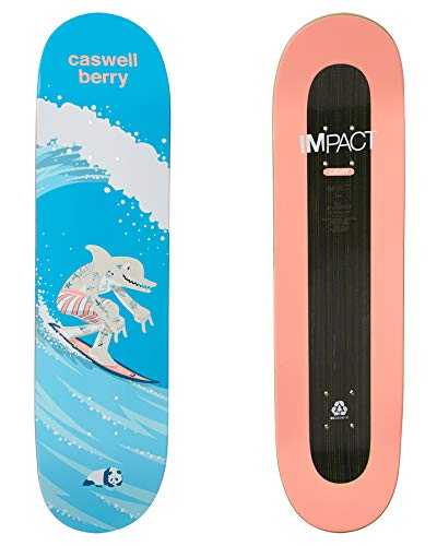 Enjoi Surf's Up Impact Light - Tavola da skateboard, Uomo, Caswell Berry, Width: 8.125 Inches