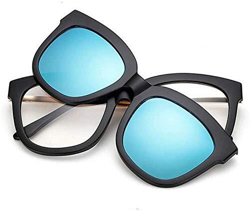 Superlight TR90 Zonnebril, gepolariseerd, compleet frame, retro-zonnebril, met verwisselbare glazen voor dames en heren, onbreekbare kleur