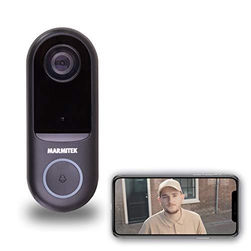 Marmitek 8501 Puerta con cámara – WiFi – Detector de Movimiento – Interfono – Funciona con Timbre negociado – Visión Nocturna, Blanco