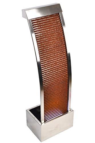 Köhko® Wasserwand Segel-Form aus Cortenstahl Höhe 110 cm mit LED-Beleuchtung Terrassenbrunnen Zimmerbrunnen Venezuela 32004