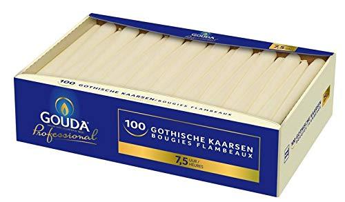 Gouda Gotische Kaars 245/24 Ivoor, 100 Stuk