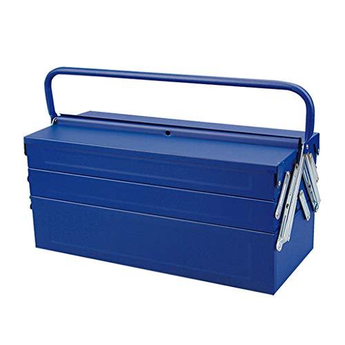 Caja de herramientas de servicio Caja de herramientas de calidad industrial del hierro engrosamiento caja de herramientas caja de herramientas portátil de almacenamiento de los hogares con aleación de