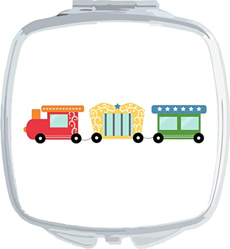 Circus Train [CIRCJS] compact pocket mirror - silver squared shape