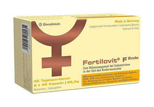 Fertilovit F Endo   90 Kapseln   Lebensmittel für besondere medizinische Zwecke   hochdosierte Folsäure   Rundumversorgung mit zusätzlichem N-Acetyl-L-Cystein und Premium Omega-3 Fettsäuren