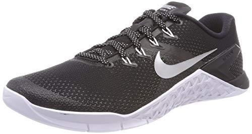 Nike Damen WMNS Metcon 4 Laufschuhe, Mehrfarbig (Black/Metallic Silver/White/Volt Glow 001), 40.5 EU
