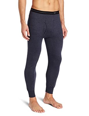 Duofold Men's Mid Weight Wicking Thermal Pant, Navy, Large