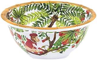 Les Jardins de la Comtesse - Bol en Mélamine Pure - Céréales/Soupe/Apéritif - Singes de Bali - Ø 15 cm - Service de Table...