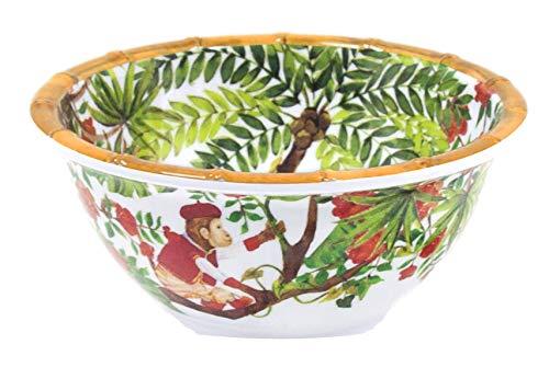Les Jardins de la Comtesse - Cuenco de Melamina Pura - Cereales/Sopa/Aperitivo - Monos Bali - Ø 15 cm - Servicio de mesa - Colección de vajilla de MelARTmine casi irrompible