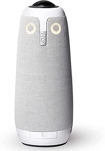 Meeting Owl Pro - 360°, 1080p HD Smart Videokonferenzkamera, Mikrofon und Lautsprecher (automatischer Lautsprecherfokus, Smart-Zooming und...