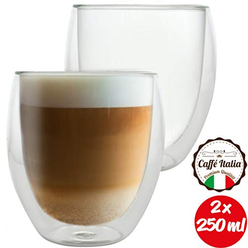 Caffé Italia Roma 2 x Juego Vasos Capuchino 250 ml