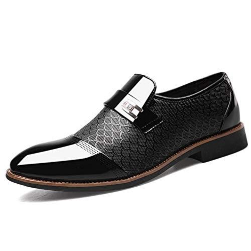TAZAN Heren Zakelijke Jurk Schoenen Punt Hoofd Stijlvolle Formele Oxford Bruidsjurk Een Pedaal Casual Lazy Loafers Ademend slijtvast zwart bruin
