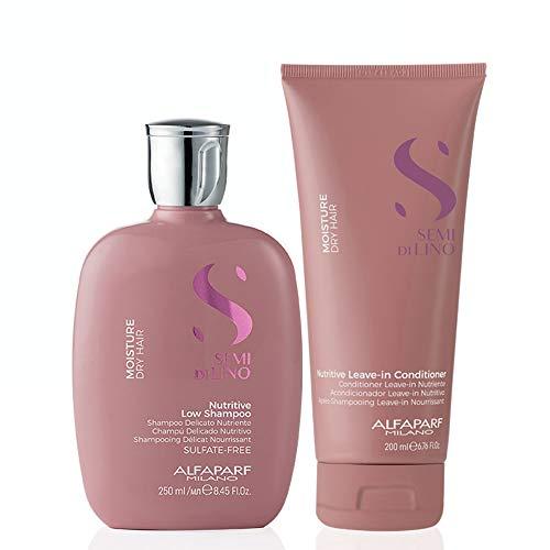 Alfaparf Milano Semi Di LINO Kit Moisture Dry Hair Nutritive Shampoo and Conditioner Home Care
