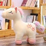 Juguetes de Peluche Unicorny Pelush Toy Big Size Relleno Peluche Animal Unicornio Pink White Sakura Unicorn Caballo Regalo de Cumpleaños for niños Novia (Color : White, Height : 90cm)