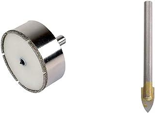 """Wolfcraft 8911000 Trépan Diamant""""Ceramic"""" Ø 68 mm, Queue Ø 10 mm avec Foret de Centrage - Profondeur de coupe 25 mm & 7976..."""