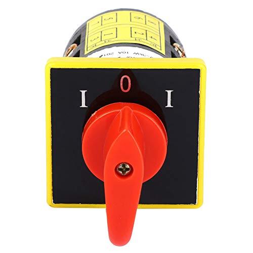 Interruptor de cambio, HZ5B-10/2 (2 capas) 380V ~ 3KW 10A Interruptor de cambio de combinación de leva giratoria de 8 terminales