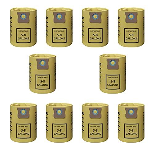 10 bolsas de filtro de vacío de repuesto tipo E, para bolsas de aspiradora de filtro desechables...