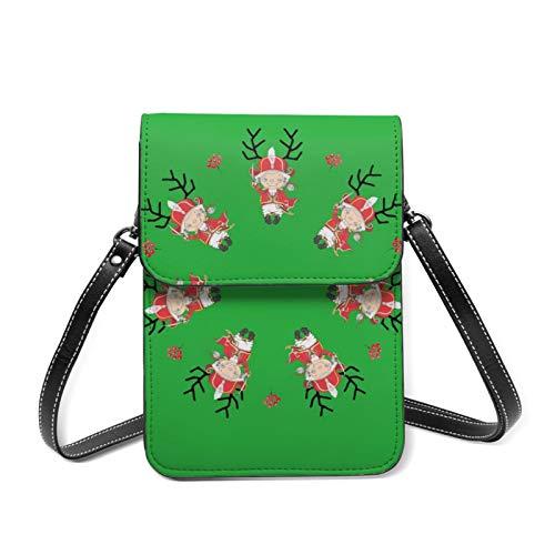 Mini sac de téléphone pour femme, portefeuille casse-noisette, pochette de voyage avec sangle réglable - Blanc - Casse-noix, Taille unique