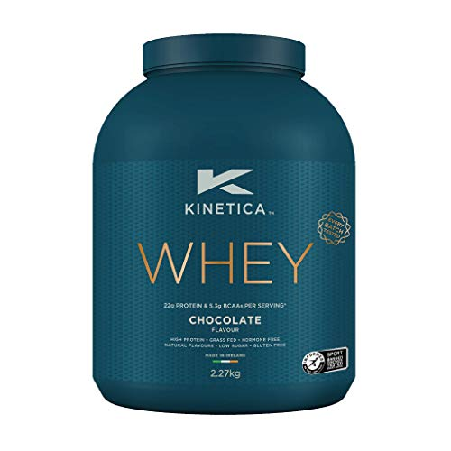 Kinetica Whey Protein Powder, 76 Servings, Chocolate, 2.27kg