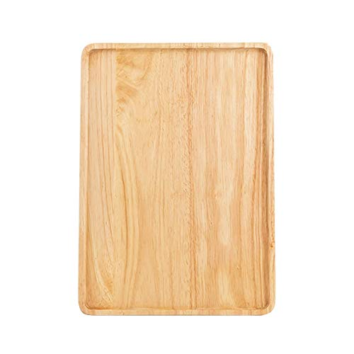 Sdesign Cena de Madera para el hogar, Placas de Madera rectangulares, Placas de Postre, Placas de té, Pizza y Placas de Madera. (Size : Large Size)