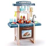 LWQ Accesorios de Cocina Alimentos,Children's Kitchen Cooking Toys, Simulation kitchenware Set-A Green 39CM