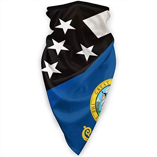 Mathillda Idaho dunne lijn blauw vlagmasker gamassen halsdoek bivakmuts multifunctionele doek