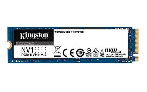 Kingston NV1 500G M.2 2280 NVMe PCIe Internal SSD Up to 2100 MB/s SNVS/500G