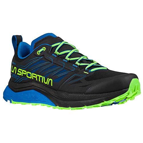 LA SPORTIVA Jackal GTX, Zapatillas de Trail Running Hombre, Black/Aquarius, 43.5 EU