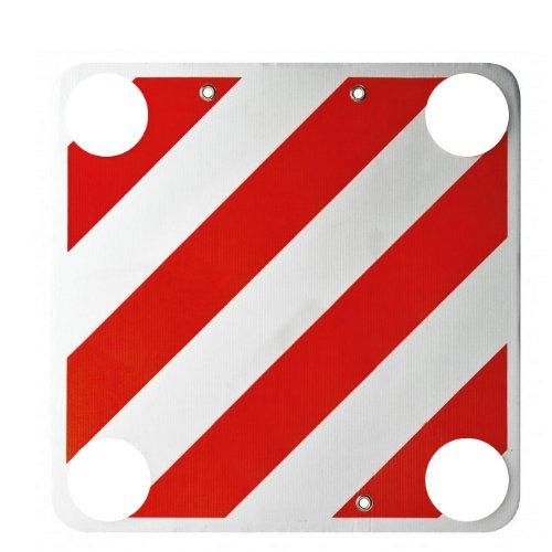 Cartello segnaletica carico sporgente cm 50x50 con dischi rifrangenti