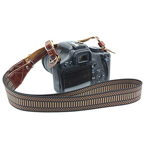 Nylon Braided Vintage Leather Camera Neck Strap...