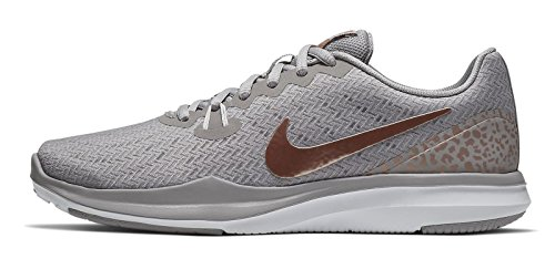 Nike Damen Trainingsschuh In-Season Train 6 Fitnessschuhe, Grau (Atmosphere Grey/MTLC 004), 40.5 EU