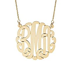 monogram necklace gift for your girlfriend