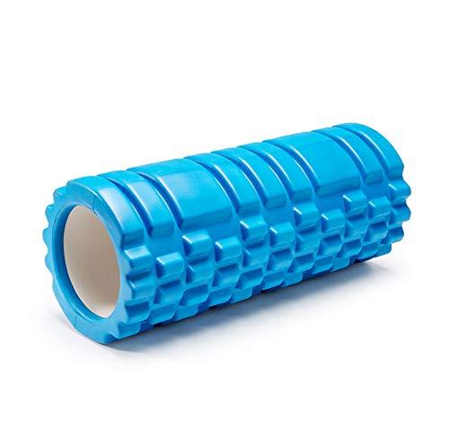 CJCJ-LOVE EVA Hollow Pilates Balance Bar Foam Roller Masaje Almohada Columna Alta Densidad, Columna De Yoga Respaldo para El Alivio del Dolor,Azul