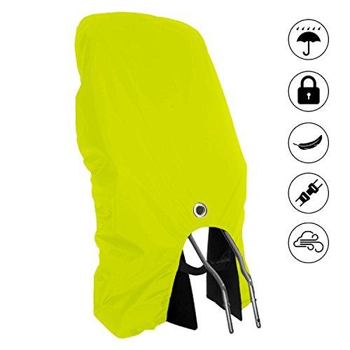 MadeForRain Sitzfester Regenschutz mit Sicherheitsöse für Fahrradkindersitze CityFrog Sport Eyelet