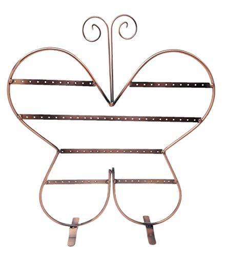 R&F srls - Expositor para Pendientes, diseño de Mariposa, Cobre