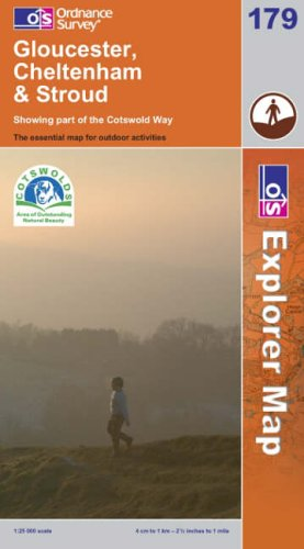 OS Explorer map 179 : Gloucester, Cheltenham & Stroud