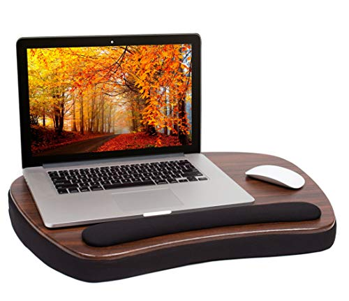 Sofia + Sam Oversized Memory Foam Lap Desk with Wrist Rest - Great for Laptops -Portable Home Working Office Workstation - Bed Table Tray for Eating - Supports Computers Up to 17 Inches - Soft Cushion