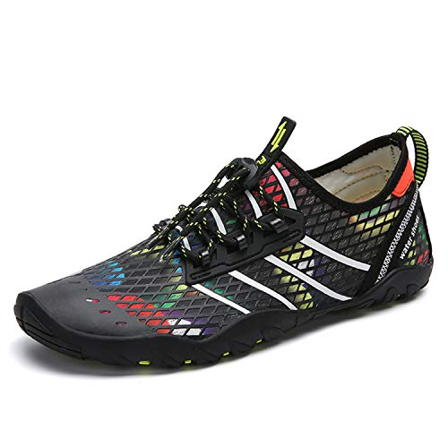 Zapatos de Agua Hombre Mujer Zapatillas para Playa Surf Natación Calzado Piscina Secado Rápido Escarpines Blanco 45