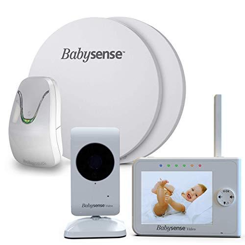 New Babysense Video Baby Monitor & Baby Movement Monitor - Bundle Pack - Baby Monitor V35 with Camer...