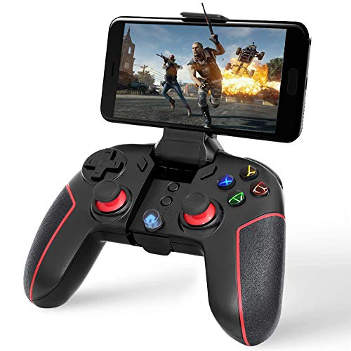 mobile video games Sinfox Mobile Game Controller, 2.4G Wireless Gaming Controller, Dual-Vibration Bluetooth Game Controller Compatible with Android Phone/iOS 11.0-13.3.1/PC Windows7,8,10/TV Box/PS3/Tablets/Switch