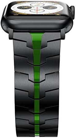 LDFAS Compatible for Apple Watch Band 44mm 42mm Titanium Metal Watch Bands with Enhanced Durability product image