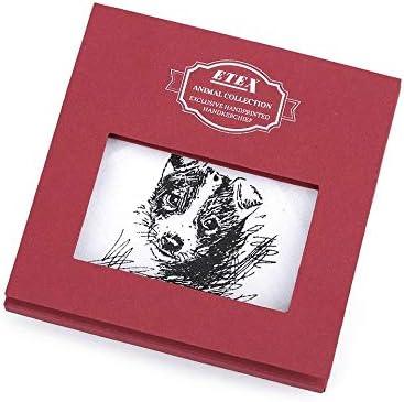 1pc White Dog Ladies Handkerchief Dog, Cat, Horse/Gift Box, Women Children Handkerchiefs, Fashion Accessories