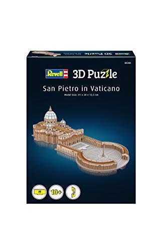 Revell 3D Puzzle 00208 Basilika Sankt Peter im Vatikan, der berühmte Petersdom in Rom, Länge 41 cm Die Welt in 3D entdecken, Bastelspass für Jung und Alt, farbig