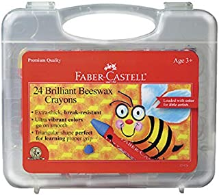 Faber Castell FC129124 Jumbo Triangular Beeswax Crayon, Assorted Color, 1.75