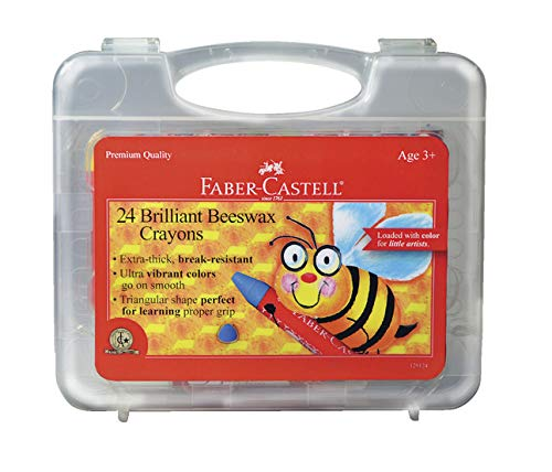 Faber Castell FC129124 Jumbo Triangular Beeswax Crayon, Assorted Color, 1.75' Height, 4.38' Width, 9.75' Length (Pack of 24)