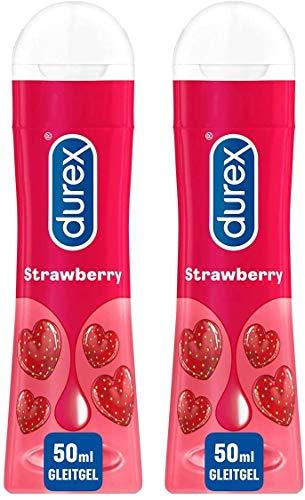 Durex Play Sweet Strawberry Gleit und Erlebnisgel, mit Erdbeeraroma, (2 x 50 ml), 100 ml