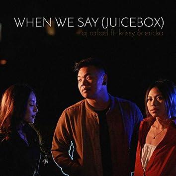 When We Say (Juicebox) [feat. Krissy & Ericka]