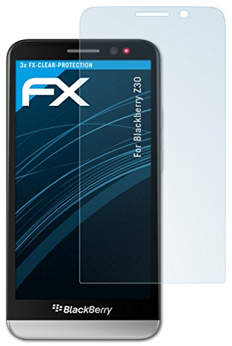 atFolix Schutzfolie kompatibel mit BlackBerry Z30 Folie, ultraklare FX Bildschirmschutzfolie (3X)