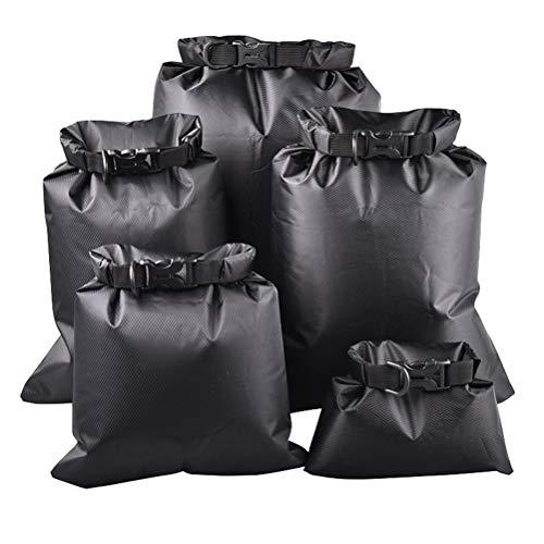 Borstu Dry Bag Juego de 5 bolsas impermeables con 1,5 l, 2,5 l, 3 l, 4 l, 8,5 l Pack Saco para kayak, rafting, senderismo, camping, pesca