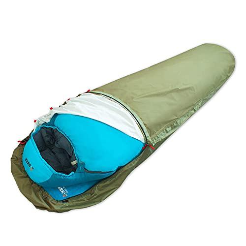 Yate Aven Biwaksack - wasserdicht - robust - Half Zip - 2 Reißverschlüsse Links und rechts - für Schlafsack - abnehmbares Moskitonetz - Schlafsack Hülle
