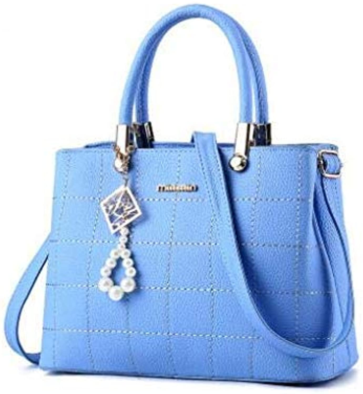 Bloomerang Women Handbags Ladies Leather Commuter Office Ring Tote Bags High Quality Women's Shouder Bags Famous Ladys Flap Bags L8-50 color Sky blueee